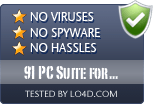 91 PC Suite for iPhone is free of viruses and malware.