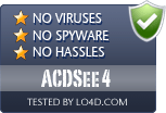 ACDSee 4 is free of viruses and malware.