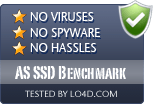 AS SSD Benchmark is free of viruses and malware.