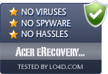 Acer eRecovery Management is free of viruses and malware.
