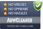 AdwCleaner is free of viruses and malware.