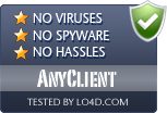 AnyClient is free of viruses and malware.