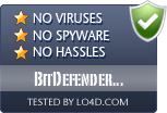 BitDefender Internet Security is free of viruses and malware.