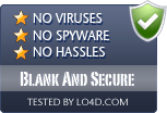 Blank And Secure is free of viruses and malware.