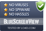 BlueScreenView is free of viruses and malware.