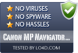 Canon MP Navigator EX is free of viruses and malware.