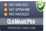 ClrMamePro is free of viruses and malware.