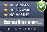 Custom Resolution Utility is free of viruses and malware.