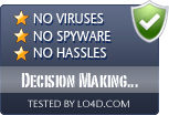 Decision Making Helper is free of viruses and malware.