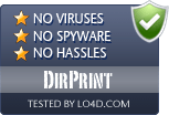 DirPrint is free of viruses and malware.