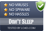 Don't Sleep is free of viruses and malware.
