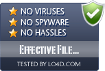 Effective File Search is free of viruses and malware.