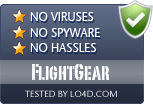 FlightGear is free of viruses and malware.