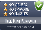 Free Font Renamer is free of viruses and malware.