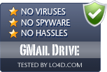 GMail Drive is free of viruses and malware.