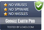 Google Earth Pro is free of viruses and malware.