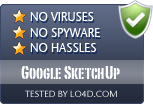 Google SketchUp is free of viruses and malware.