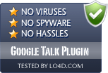 Google Talk Plugin is free of viruses and malware.