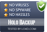 Holo Backup is free of viruses and malware.