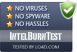 IntelBurnTest is free of viruses and malware.