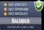 Kaleider is free of viruses and malware.