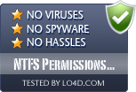 NTFS Permissions Tools is free of viruses and malware.