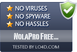 NolaPro Free Accounting is free of viruses and malware.