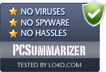 PCSummarizer is free of viruses and malware.