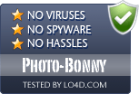 Photo-Bonny is free of viruses and malware.