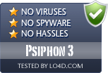 Psiphon 3 is free of viruses and malware.