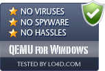 QEMU for Windows is free of viruses and malware.