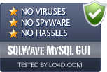 SQLWave MySQL GUI is free of viruses and malware.
