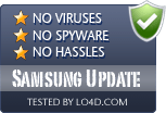 Samsung Update is free of viruses and malware.