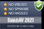 SmadAV 2021 is free of viruses and malware.