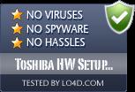 Toshiba HW Setup Utility is free of viruses and malware.