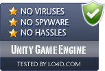 Unity Game Engine is free of viruses and malware.