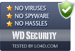 WD Security is free of viruses and malware.