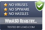 WinASO Registry Optimizer is free of viruses and malware.