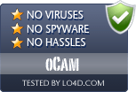 oCam is free of viruses and malware.