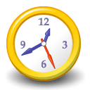Alpha Clock Icon