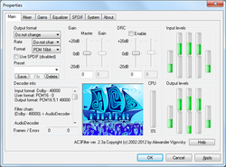 AC3Filter Screenshot