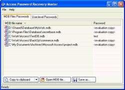 Access Password Recovery Master Screenshot