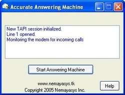 Accurate Answering Machine Screenshot