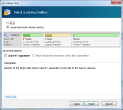Acronis Partition Expert Screenshot