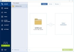 Acronis True Image Home Screenshot
