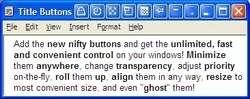 Actual Title Buttons Screenshot