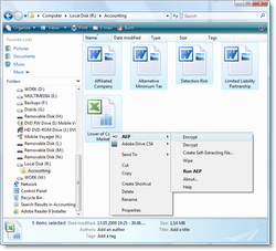 Advanced Encryption Package 2008 Professional Screenshot