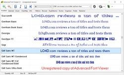 Advanced Fonts Viewer Screenshot