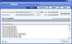 Advanced Outlook Repair Screenshot