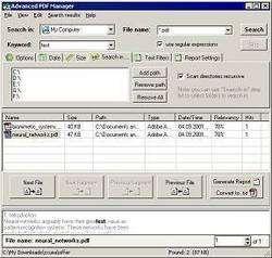 Advanced PDF Manager Screenshot